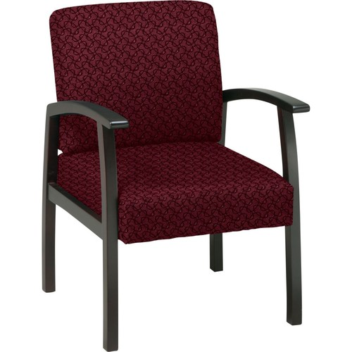 Office Star Custom Espresso Finish Wood Guest Chair, Inferno