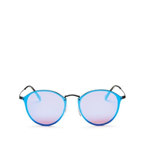 Blaze Rimless Round Sunglasses, 59mm