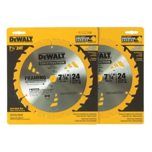 DeWalt 7-1/4 in. Dia. 24 teeth Carbide Tip Circular Saw Blade(DW3578D2)
