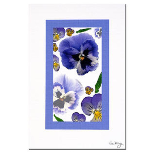 Trademark Global 'Pansy Window' by Kathie McCurdy Painting Print on Canvas