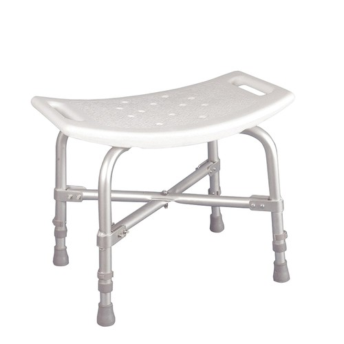 Bath Bench without Back, Grey, Bench Heavy Seat Aluminum Chair Spa Backrest Premium Plastic Bath without With Designer Trigger Bariatric and Duty Piece.., By Drive Medical
