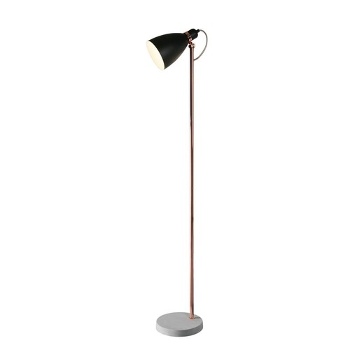 Kenroy Home Gabriel 59 in. Black and Copper Floor Lamp with steel shade