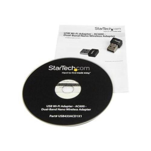 StarTech USB Wi-Fi Adapter AC600 Dual-Band Nano Wireless Adapter Network Adapter USB 2.0