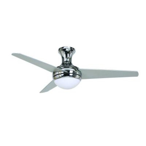 Yosemite Home Decor Adalyn 48 in. Chrome Ceiling Fan with 12 in. Lead Wire