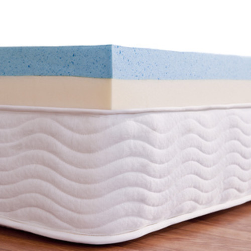 Priage 4-Inch Dual-layered Support Gel Memory Foam Topper
