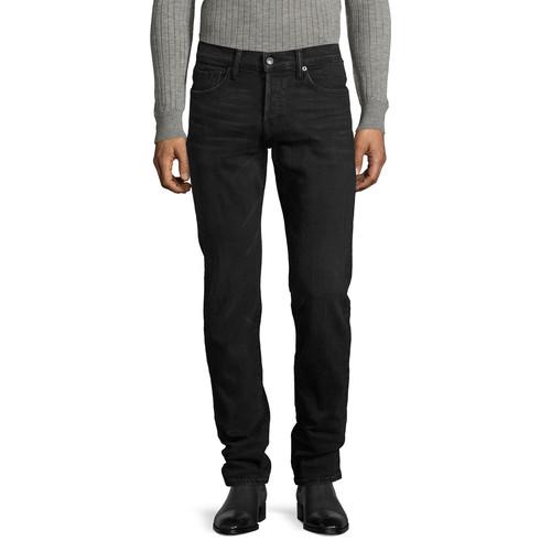 TOM FORD Slim-Fit Denim Jeans, Worn Black