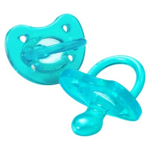 Chicco NaturalFit Soft Silicone Age 6-12M Orthodontic Pacifier in Blue (2-Pack)