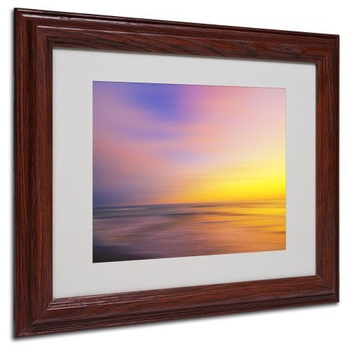 Metallic Sunset Canvas Wall Art by Philippe Sainte-Laudy, Wood Frame, 11 by 14-Inch