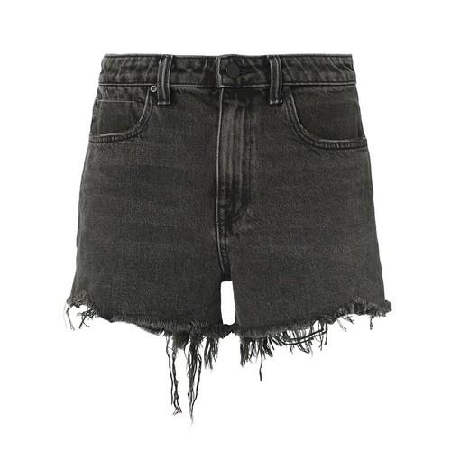ALEXANDER WANG Bite Grey Cut Off Shorts
