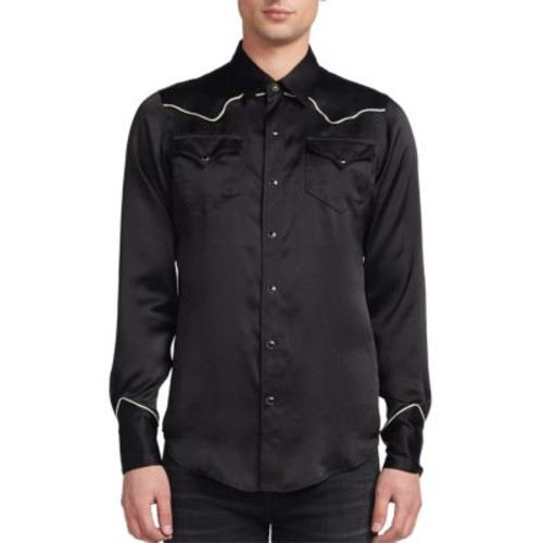 SAINT LAURENT Slim-Fit Silk Shirt
