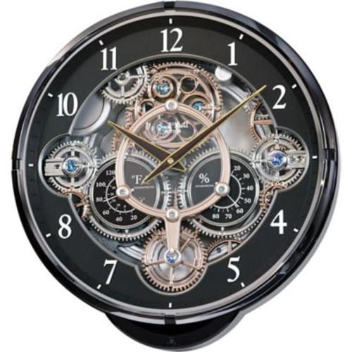 Rhythm 15'' Wall Clock; Black