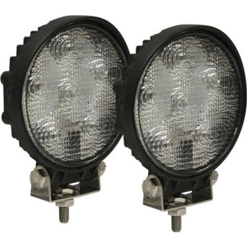 Buyers Products Company 6-Clear LED Round Aluminum Flood Light (2-Pack)