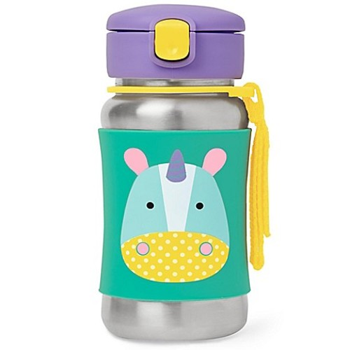 SKIP*HOP Zoo 12 oz. Unicorn Straw Bottle in Stainless Steel