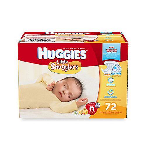 Huggies Little Snugglers 72-Count Newborn Big Pack Diapers