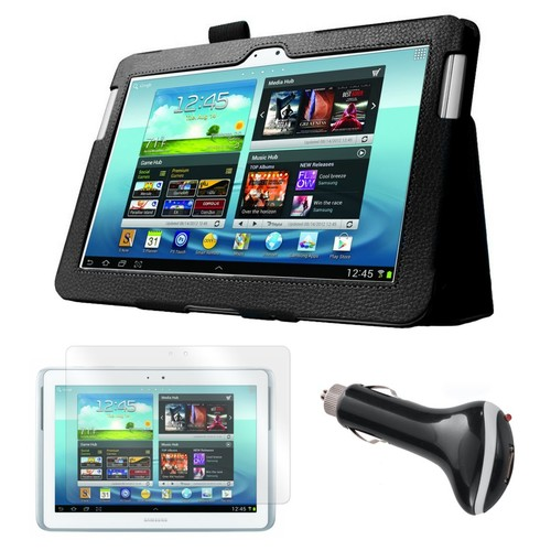 Mgear Accessories Folio Case with Screen Protector & Car Charger, Samsung Galaxy Note 10.1