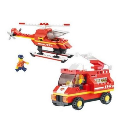 CIS Airport Firehouse Building Block Set - 211 Bricks (CISA137)