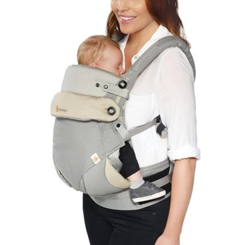 Ergobaby 360 All Carry Positions Ergonomic Baby Carrier with Bundle of Joy Infant Insert - Gray