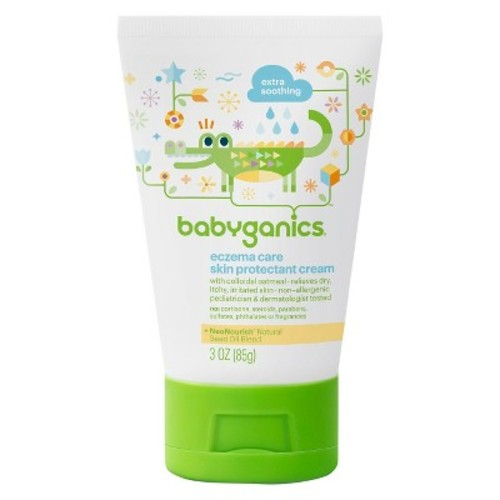 Babyganics Eczema Care Skin Protectant Cream, Fragrance Free - 3oz