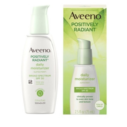 Aveeno Positively Radiant Daily Facial Moisturizer With Broad Spectrum Spf 30, 2.5 Fl. Oz [Daily Moisturizer SPF 30]