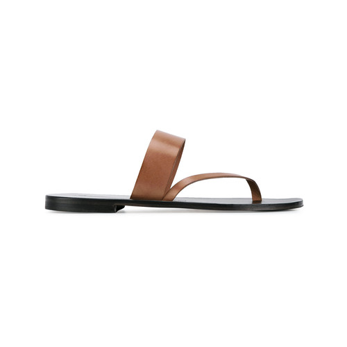 Brown Alberto leather sandals
