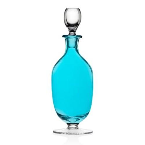 Godinger Rondo Stemmed Whiskey Decanter in Sea Blue