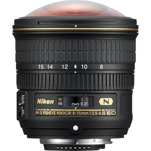 Nikon - AF-S Fisheye-Nikkor 8-15mm f/3.5-4.5 E ED Fisheye Zoom Lens for Nikon - Black