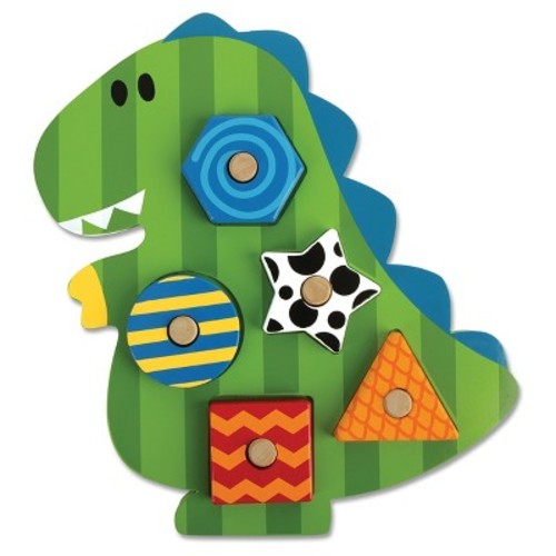 Dino Shaped Wooden Peg Puzzle by Stephen Joseph - SJ1066-59