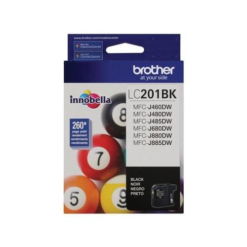 Brother Innobella Lc201bk Ink Cartridge - Black - Inkjet - Standard Yield - 260