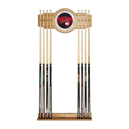 Atlanta Hawks Hardwood Classics Billiard Cue Rack with Mirror