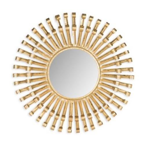 Safavieh Rayos Sunburst Mirror in Antique Brass