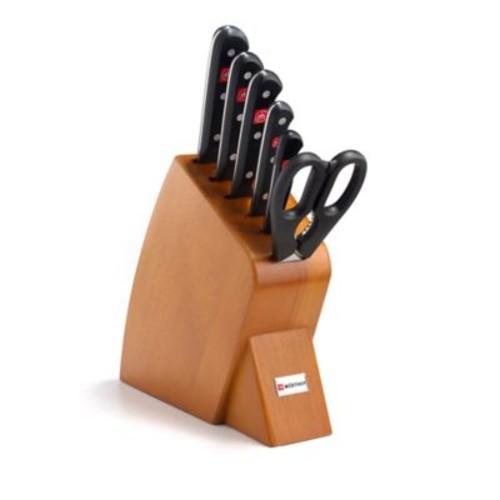Wusthof Gourmet 7-Piece Mobile Cherry Knife Block Set
