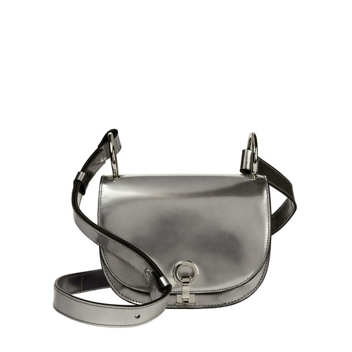 MARNI Bandoleer Silver Leather Shoulder Bag