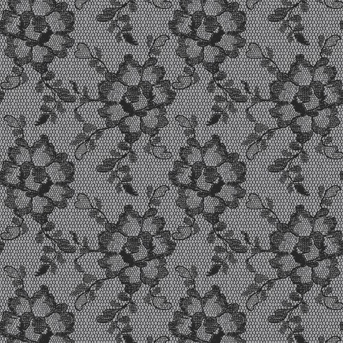 Sample Lace Textured Self Adhesive Wallpaper in Smokey Black design by Tempaper
