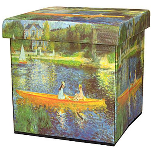 Oriental Furniture The Seine By Renoir Footstool