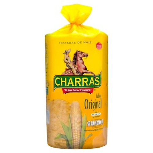 Charras Natural Yellow Corn Tostada 12.3 oz