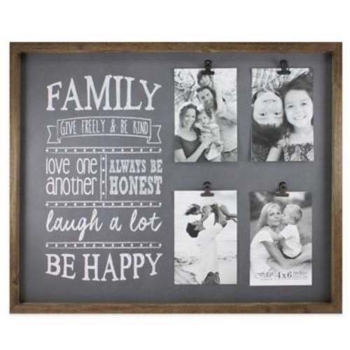 Fetco Home Dcor Abbott 4-Photo Family Collage Frame