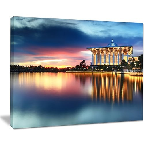 'Iron Mosque Malaysia Panorama' Photographic Print on Wrapped Canvas