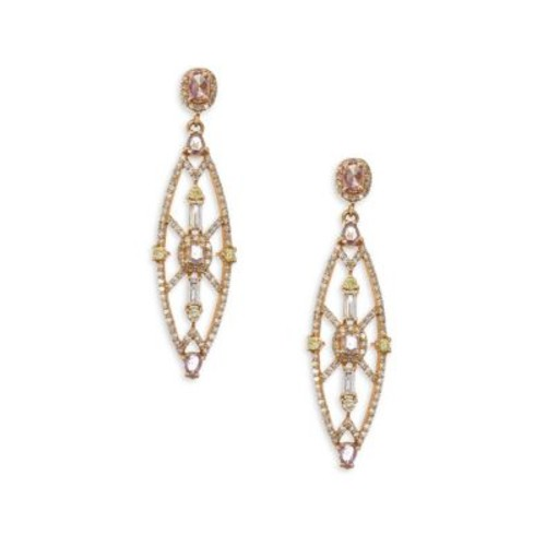 Colored Diamond Drop Earrings