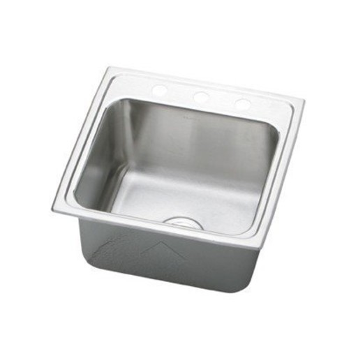 Elkay PLA191910OS4 Pursuit Laundry Sink Lustrous Satin Stainless Steel Top Mount 4 OS