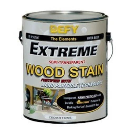 DEFY Extreme 1 Gallon Semi-Transparent Exterior Wood Stain, Cedar Tone [Cedar Tone, 1 Gallon]