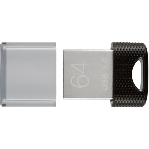 PNY - Elite X 64GB USB 3.0 Flash Drive - Black/silver