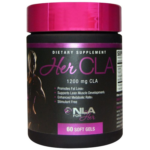 NLA for Her - Her CLA - 1200 mg CLA (Conjugated Linoleic Acid) - Promotes Fat Loss (Stimulant Free), Supports Lean Muscle Development...