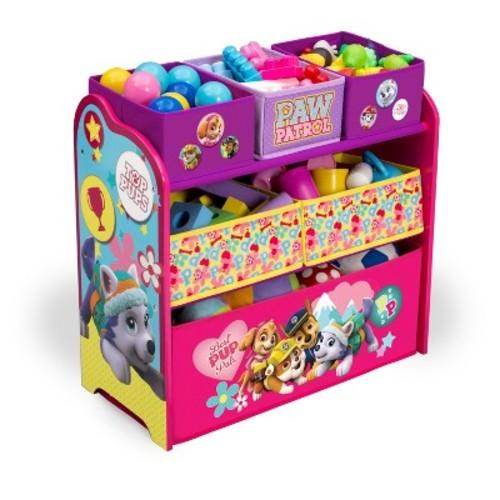 Delta Children Nick Jr. PAW Patrol - Skye & Everest - Multi-Bin Toy Organizer