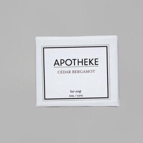 Cedar Bergamont Bar Soap design by Apotheke