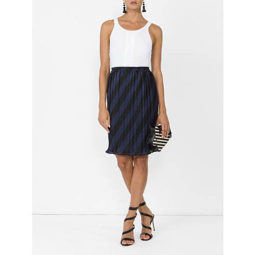 ALEXANDER WANG High Waisted Pleated Striped Skirt