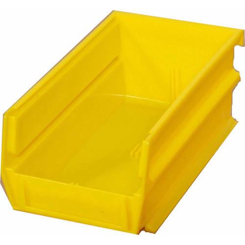 Triton Products LocBin .301-Gal. Stacking, Hanging, Interlocking Polypropylene Storage Bins in Yellow (10-Pack)