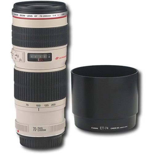Canon - EF 70-200mm f/4L USM Telephoto Zoom Lens - White