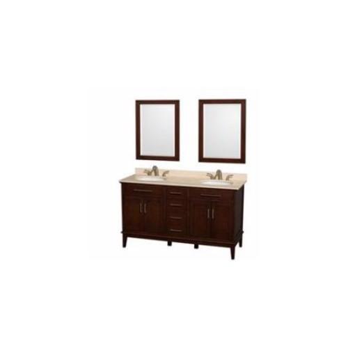 Hatton Collection 60 in Double Bathroom Vanity in Dark Chestnut [WCV161660DCDCXSXXMED]