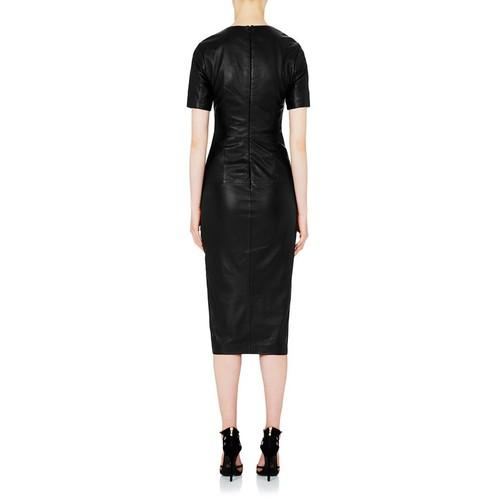Jane Fonda Leather Dress