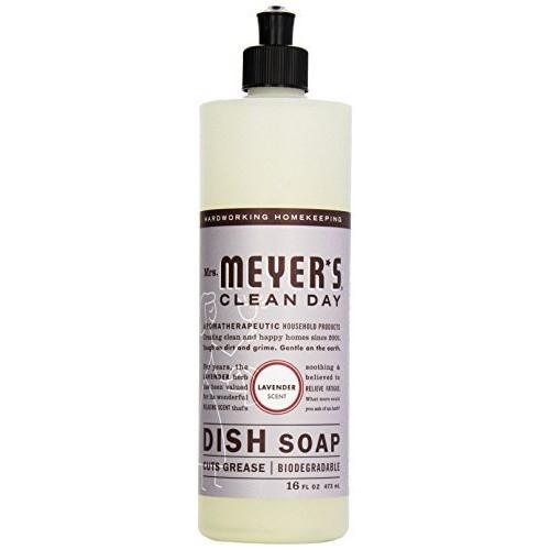 Mrs. Meyer's Clean Day Dish Soap, Lavender, 16 fl oz [Lavender]